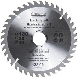 Germania Hartmetall Kreissägeblatt Ø 180 mm Holz