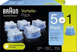 Braun Clean & Renew Reinigungskartuschen Lemon Fresh, Promo-Pack 5+1