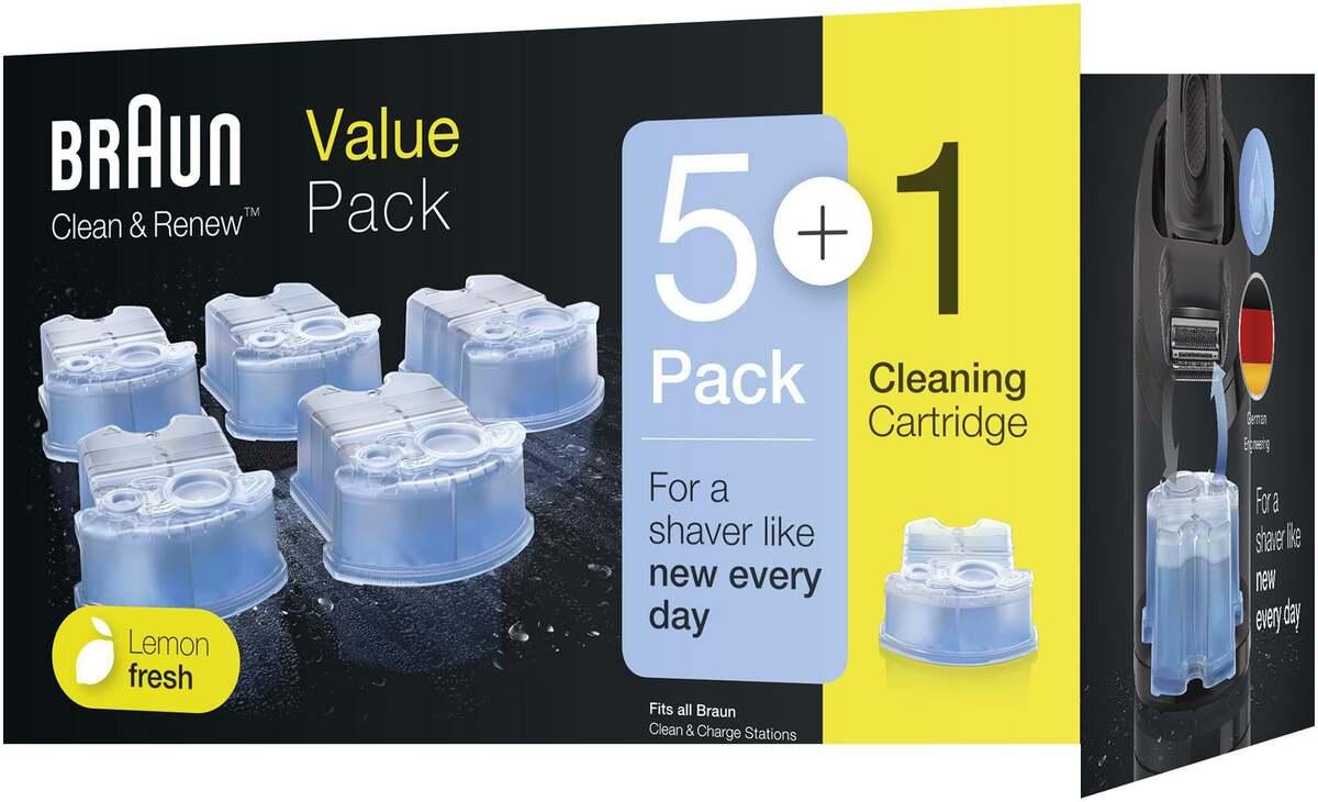 Bild 2 von Braun Clean & Renew Reinigungskartuschen Lemon Fresh, Promo-Pack 5+1