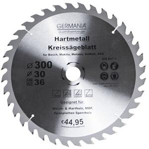 Germania Hartmetall Kreissägeblatt Ø 300 mm Holz