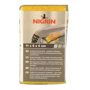 Nigrin Insektenschwamm 11x6x4cm gelb Hartschaum Reinigungsschwamm Autoschwamm