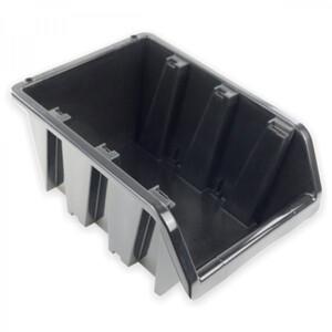 Stapelbox 118x78x60 mm NP4 schwarz Stapelkasten Stapelkästen Sichtlagerkästen