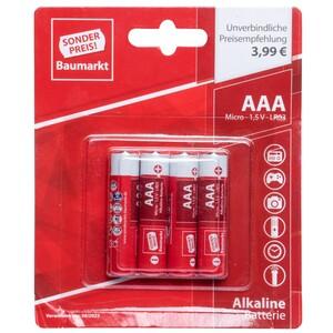 Sonderpreis Baumarkt Batterien LR 03 AAA 4 Stück