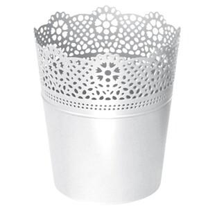 Prosperplast Blumentopf Lace in weiß