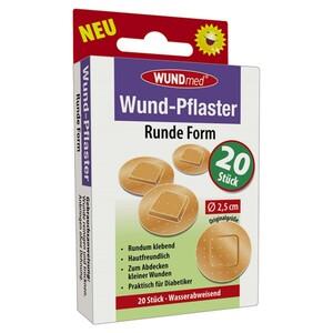 Wundpflaster runde Form 20 Stück hautfreundlich