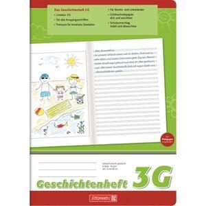Brunnen - Geschichtenheft DIN A4 - Lineatur 3G
