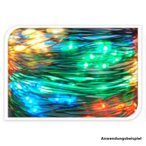 Haardraht Lichtervorhang 200 LED mehrfarbig