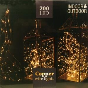 LED Lichterkette mit 100-200 LEDs warmweiß aus Haardraht