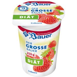 Bauer Fruchtjoghurt weniger Zucker Erdbeere 250g