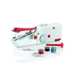 EASYmaxx Hand-Nähmaschine Kompakt 6V weiß