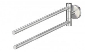 TrendLine Handtuchhalter Simple Round ,  Edelstahl gebürstet, Farbe: chrom, schwenkbar, 2-armig