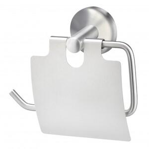 TrendLine Papierrollenhalter Simple Round ,  Edelstahl gebürstet, mit Deckel