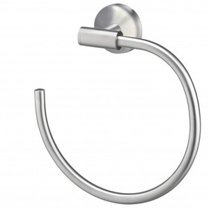 TrendLine Handtuchring Simple Round ,  Edelstahl gebürstet, Farbe: chrom