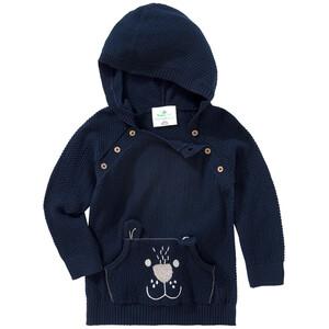 Baby Strickpullover mit Kapuze