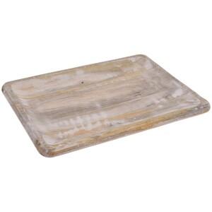 Holztablett rechteckig als Deko- oder Serviertablett
