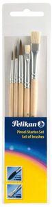 Pelikan, Pinsel Starter Set 5-tlg., 2 Borsten- und 3 Haarpinsel