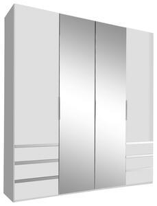 Drehtürenschrank Level 36A B:200cm Weiß Dekor/ Spiegel