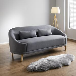 Dreisitzer Sofa in Dunkelgrau 'Jannike'