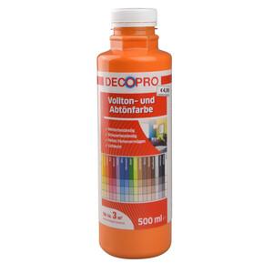 DecoPro Vollton und Abtönfarbe 500 ml orange innen und außen