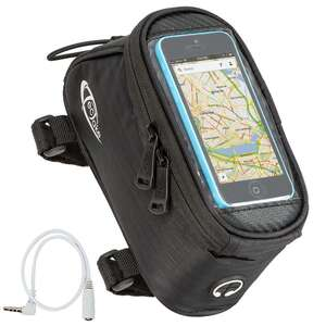 Fahrradtasche mit Rahmen-Befestigung für Smartphones schwarz 18 x...