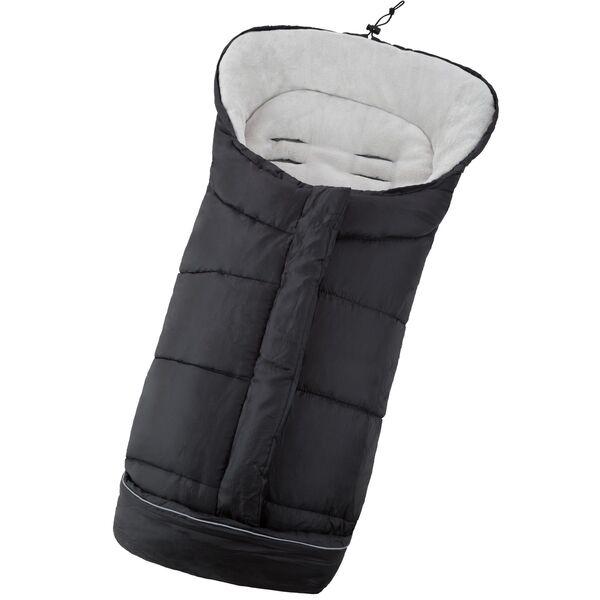 Fußsack mit Thermofüllung schwarz