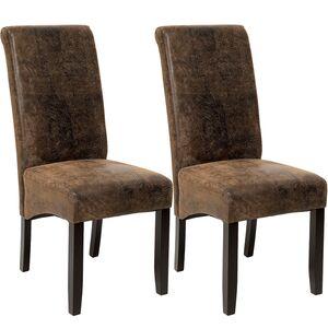 2 Esszimmerstühle, ergonomisch, massives Hartholz antikbraun