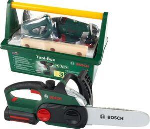 Bundle Bosch Werkzeug: Tool Box mit Akkuschrauber + Kettensäge II Jungen Kinder