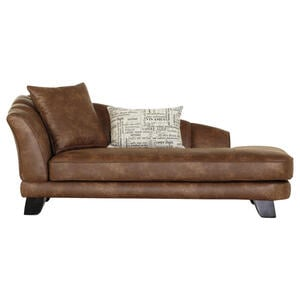 Novel CHAISELONGUE Braun Mikrofaser