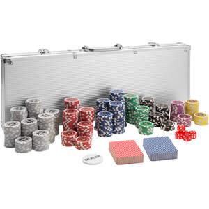 Pokerset inkl. Aluminiumkoffer silber 500 Teile