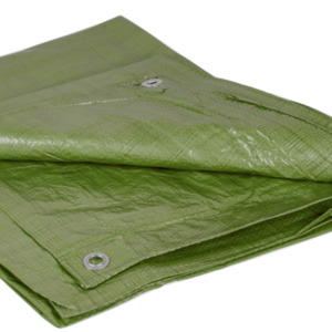 Abdeckplane 4 x 6 m 90 g/m² aus Bändchengewebe in grün