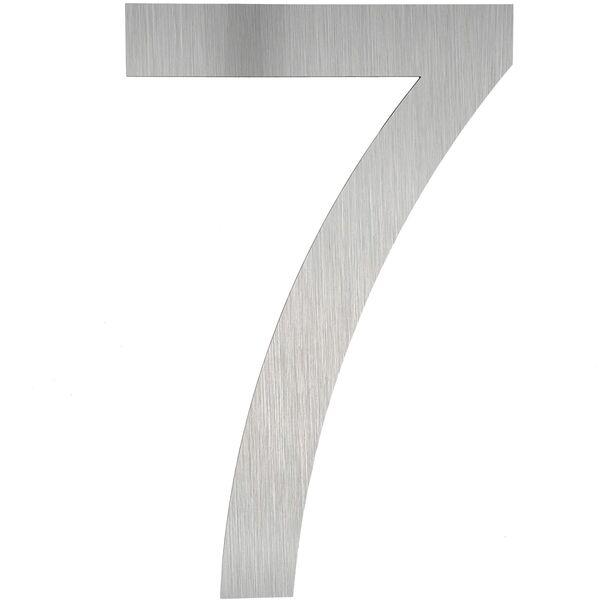 Hausnummer Edelstahl 7