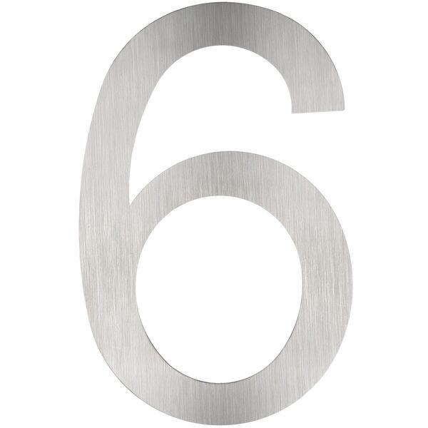 Hausnummer Edelstahl 6