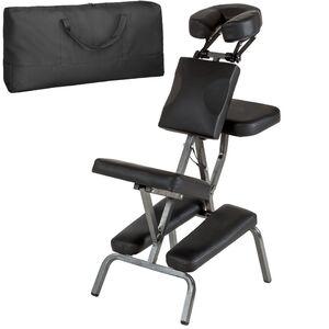 Massagestuhl aus Kunstleder schwarz