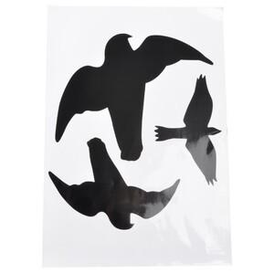 Vogel Silhouette 3 Stk. Aufkleber Greifvogel
