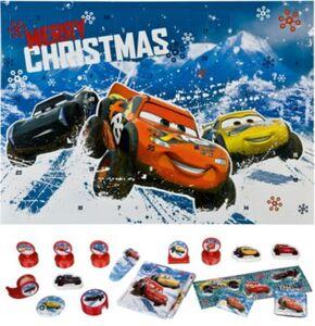 Mal- und Spaß- Adventskalender Cars blau/rot