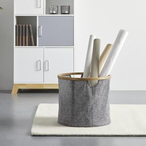 Aufbewahrungsbox in Grau 'Bamboo' Ø ca.  38cm/H 32 cm