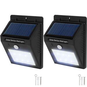 2 LED Solar Leuchten mit Bewegungsmelder