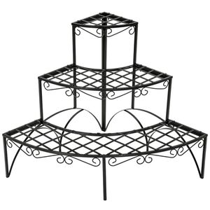 Blumentreppe mit 3 Stufen rund