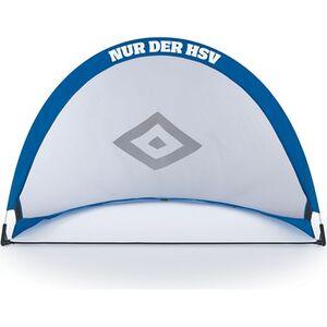 HSV Fußballtor faltbar blau/weiß/schwarz mit Logo