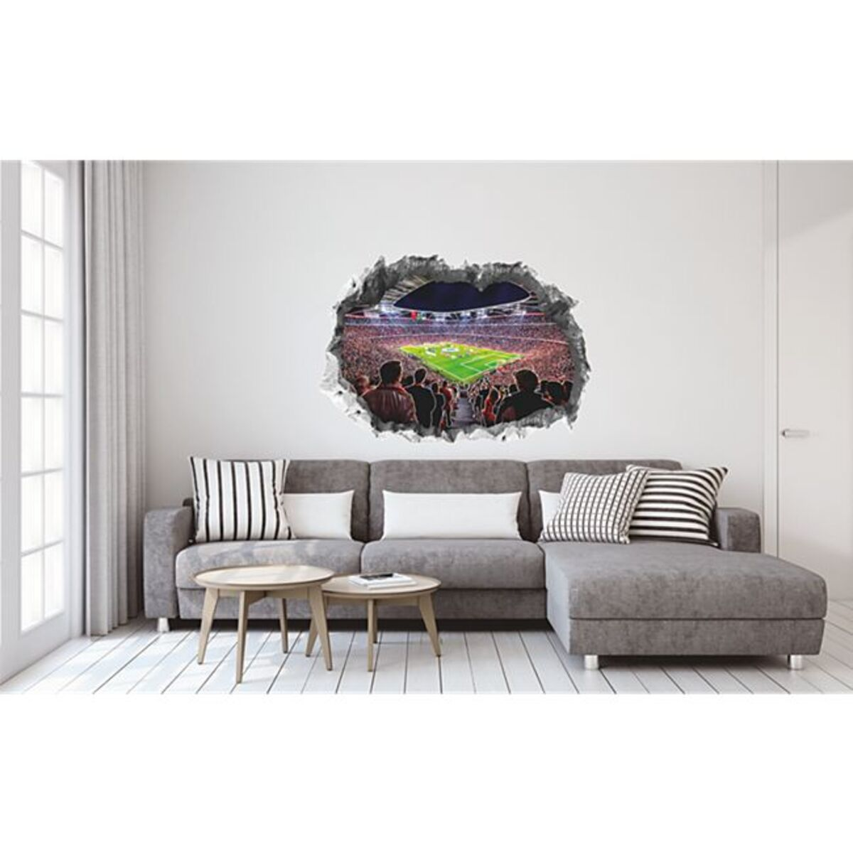 Bild 1 von FCB Wandtattoo 3D nachleuchtend Allianz Arena mehrfarbig