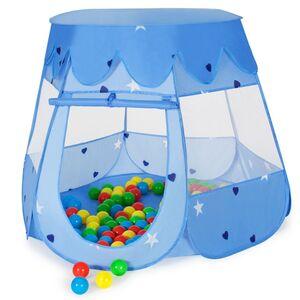 Spielzelt mit 100 Bällen blau