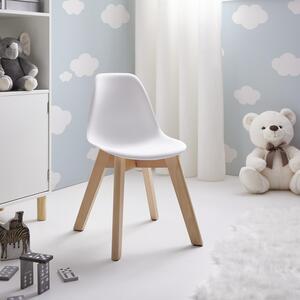 Kinderstuhl in Weiß/ Buchefarben 'Julie'