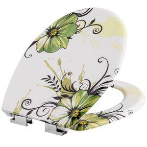 WC Sitz mit Motiv Blumen