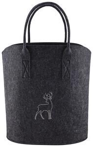 Tasche in Dunkelgrau 'Luca'  ca.40x45cm