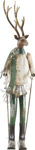 Dekohirsch in Multicolor H ca. 65,5 cm 'Skihaserl'