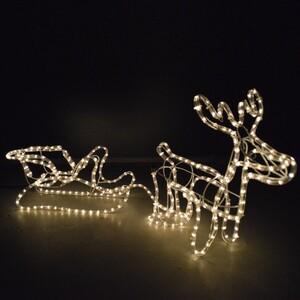 Weihnachtsbeleuchtung Rentier 48x44cm 324 Lichter warmweiß