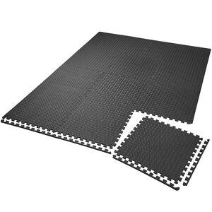 Bodenschutzmatte 12-tlg. schwarz
