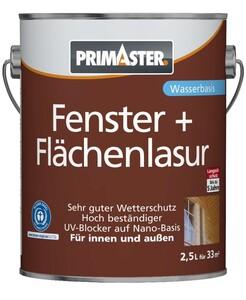 PRIMASTER Fenster- und Flächenlasur ´´2,5 l, weiß´´