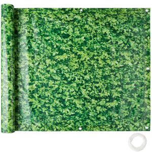 Balkon Sichtschutz, Variante 1 grünes Laub 90 cm