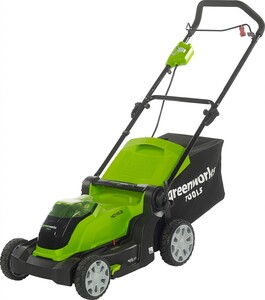 "Greenworks Akku-Rasenmäher 40 V ""inkl. 4 Ah Akku + Ladegerät, 41 cm Schnittbreite"""